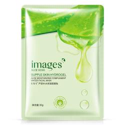 Imagens Máscara de Aloe Vera Anti-Aging Hidratando Embranquecimento Máscara facial Máscara embrulhados encolher poros Máscara cuidado da pele