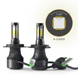 Commerce de gros ventilateur de refroidissement côté S à haute intensité2-4H4 H7 quatre côtés le témoin Auto LED de voiture