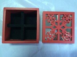 Contenitore di regalo di legno di natale del MDF del taglio del laser