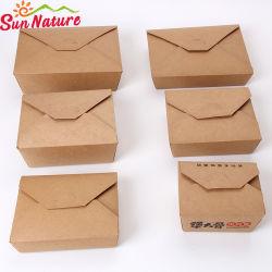 Costom conteneur jetables en papier kraft l'alimentation papier
