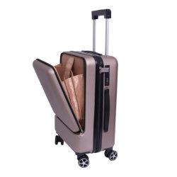 Geschäftsreise-Laufkatze-Koffer-Gepäck mit Laptop-Fach
