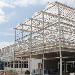 Costruzione prefabbricata della Camera della costruzione del blocco per grafici della struttura d'acciaio del garage del magazzino del workshop d'acciaio prefabbricato chiaro industriale su ordinazione
