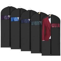 Verkoop van de fabriek paste de Zwarte Zak van het Kledingstuk van het Kostuum met het Embleem van de Douane aan