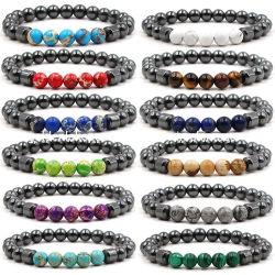 De aangepaste Armbanden van de Parel van de Halfedelsteen van het Beeld van het Hematiet van het Malachiet van Juwelen Jaspis Geparelde voor Vrouwen