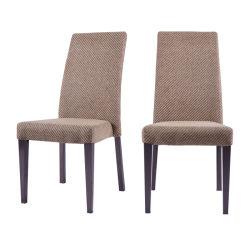 Le restaurant de Banquet de mobilier moderne en bois de gros comme tissu de velours de métal rembourrés chaise de salle à manger de l'hôtel