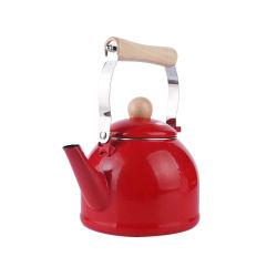 1.4L de rode Producten van de Keuken van de Ketel van het Koolstofstaal van de Theepot van het Email van de Kruik van het Metaal