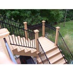 Guardavie dell'interno del balcone, balaustre della scala, inferriata decorativa di alluminio personalizzata della villa