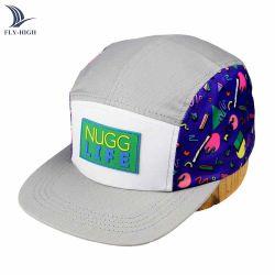 Unipinの製造業者の卸売プラスチックパッチのロゴは灰色の急な回復の帽子5のパネルの帽子をからかう