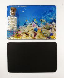 Accessoires de mode souple en vinyle de la promotion de la dérive de résine époxy personnalisée bouteille Fridge Magnet