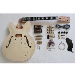 Matériel d'or flammé de placage de style es DIY Kit Guitare