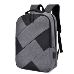 新しい偶然ビジネスラップトップのバックパック袋はオックスフォードのスプライスの方法着く