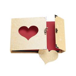 白い透過PVCシートの正方形の自己の棒の写真アルバムの上のDIYフリップ