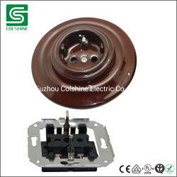 Superfície rotativa do interruptor de cerâmica e soquete com porcelana