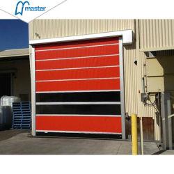 Промышленной безопасности автоматически высокая скорость подвижной двери из ПВХ для склада