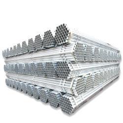 Tuyau en acier galvanisé de matériaux de construction, prix d'usine Gi des tubes en acier