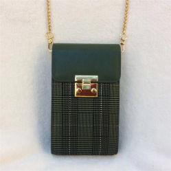 Aufrechtes kleines Gitter-beweglicher Beutel-Leder-Frauen-Handtaschen-Modedesigner-Ketten-Schulter-Fonds-Telefon-Beutel Al349