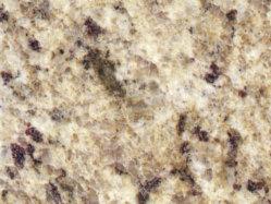 La tuile/dalle/escalier/comptoir/vanité haut/table/paillasse Giallo granite poli ornementales jaune