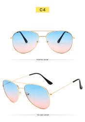 Новый стиль Occident цвет градиента классики солнечные очки мужчин и женщин
