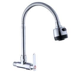 حوض المطبخ زنك الجسم الزنك مقبض الماء البارد تثبيت جدار صنبور المطبخ