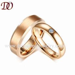 CZ камня золото купольные вольфрама кольцо