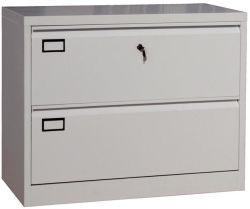 Pega de plástico com novo design metálico de 2 gaveta armário de arquivos Lateral