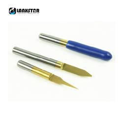 10 tot 60 Graad 0.2 en 0.5mm Uiteinde 3.175mm de Bit van de Gravure van PCB van het Carbide van de Steel
