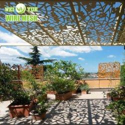 Decoração de jardim perfuradas régua de metal/Painel/folha