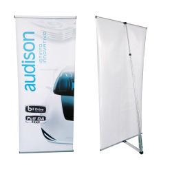 L visualizzazione di alluminio del manifesto del blocco per grafici di figura che fa pubblicità al basamento della bandiera (DY-L5)