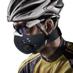 Im Freien kundenspezifisches Neopren-Fahrrad-komprimierende Gesichts-Antistaub-Verunreinigungs-Schablonen-Filter