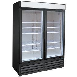 Portello dritto di vetro del frigorifero del congelatore dell'acciaio inossidabile