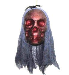 装飾のくものHalloweenホーム党装飾の供給が付いている骨組幻影の泡の頭骨の支柱をハングさせる恐い頭骨