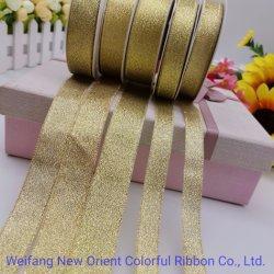 0.6-10cm Goldmetallisches Farbband-Funkeln für Bögen/Verpackung/Dekoration/Blume