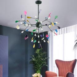 Lámpara de araña moderna lámpara de techo Iluminación LED lámparas de araña Wohlesale Ecorative Iluminación interior colorido araña ágata
