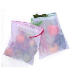 野菜およびフルーツの洗濯できる網袋のために通気性
