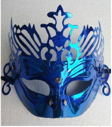 2019年の謝肉祭のクリスマスのマスカレードの青マスク
