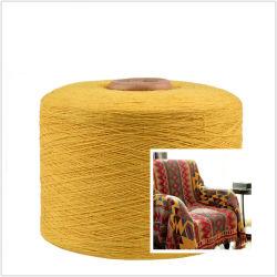 Il filato giallo Ne6/Ne8/Ne10 ha rigenerato il filato mescolato poliestere del cotone per la coperta tessuta
