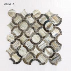 Efeito de madeira vidro cinzento Mosaico Mosaico de banho para a decoração de paredes