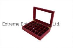 ガラス窓が付いているチョコレート色の終了する木製の包装のギフト用の箱
