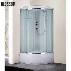 Casella di vetro completa della doccia dell'idro stanza da bagno d'angolo semplice della Cina