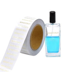 Het zelfklevende Etiket van de Kruik van het Broodje Kosmetische met Hete Gouden het Stempelen Folie