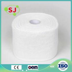 La producción profesional Spunlace Non-Woven Tela 100% algodón toalla rollo