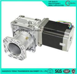 Caja de engranajes industriales con servomotor eléctrico del gusano de aluminio Caja de engranajes reductores