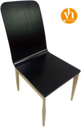 가장 유명한 도매 라이트 KFC 블랙 커브드 목재 레스토랑 식사 의자
