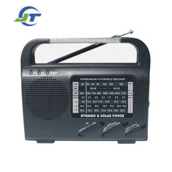 Solar hand Crank Radio met AM/FM/SW1/SW2/SW3/SW4 /WB Band & Reading Lamp