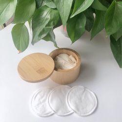 2capas de algodón de bambú Desmaquillante pads con etiqueta personalizada