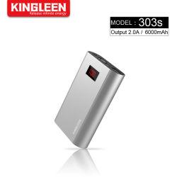 6000Мач питание банк безопасной Micro входной портативное зарядное устройство с 2 батарейный блок с двумя USB-выход