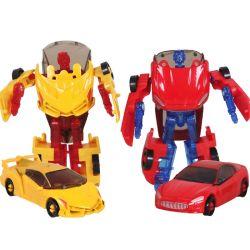 Großhandelshandbuch wandeln Roboter-Bau-Auto-Modell-Spielzeugselbstbot-Geschenk-Spielzeug für Kinder um
