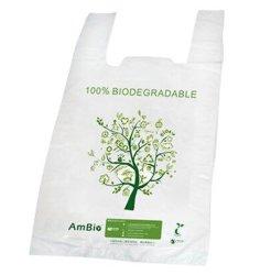 Sac biodégradable / écologique compostable POLY BAG / un sac de shopping