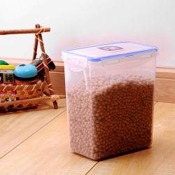 1600 мл FDA бытовых пластиковых емкостях для хранения продуктов питания с крышкой