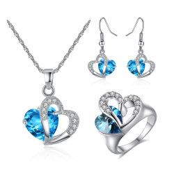 2018 Hot Venda Jóias define um diamante colar e brincos conjuntos para Mulheres Jóias de cristal de casamento